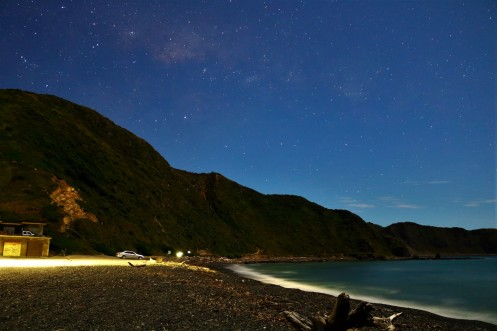 Makara Beach, New Zealand - Night