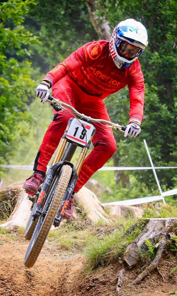 Gee Atherton competing in the HSBC National Downhill by Sam Davis Professional Sports Photographer Mountain biking