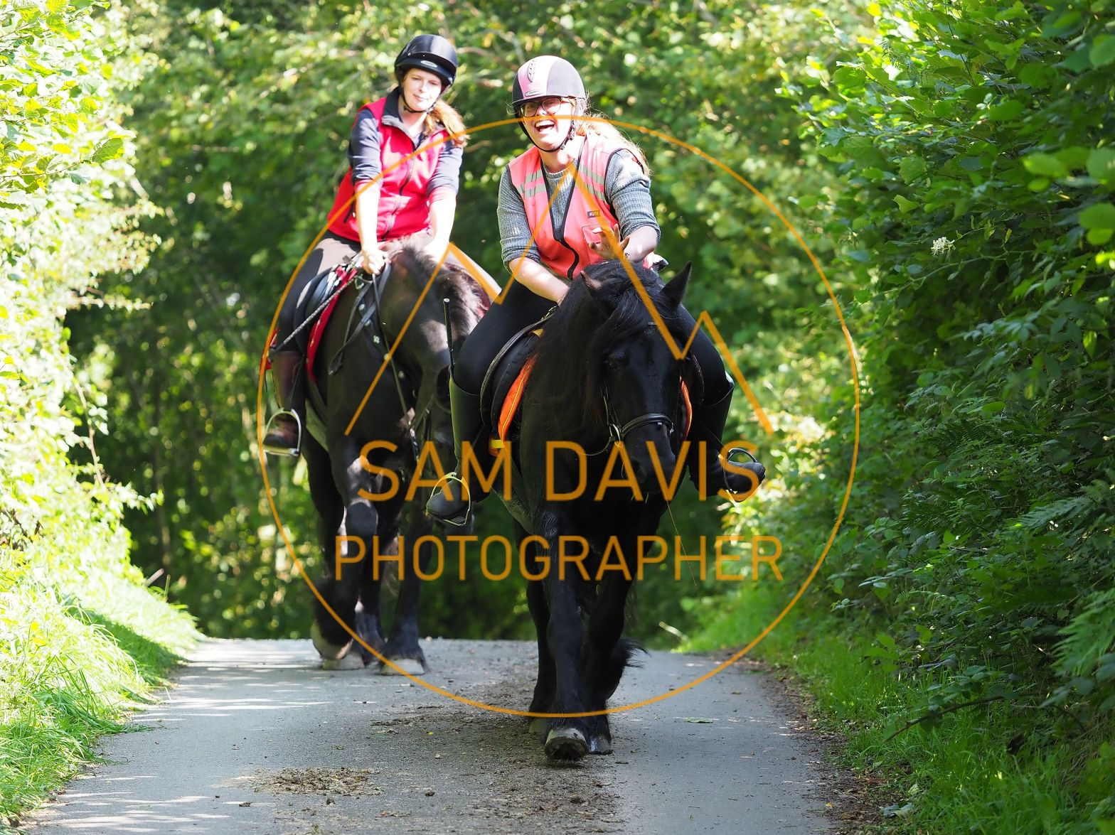 Having fun on the Oswestry Riding Club fun ride by Sam Davis Photographer
