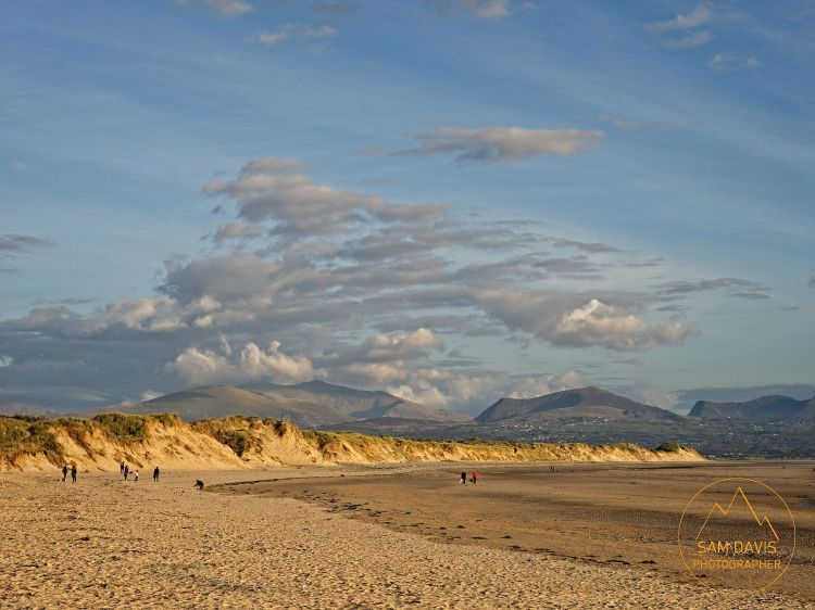 Newborough Beach with Snowdonia, Anglesey, Wales by Sam Davis Professional Landscape Photographer