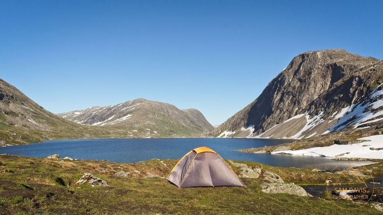 Freedom Camping at Djupvatnet, Norway by Sam Davis Photographer