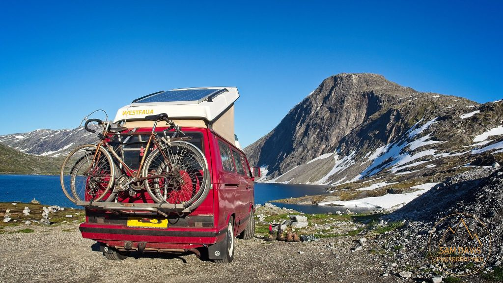 The Westfalia VW T3 in it's element at Djupvatnet, Norway by Sam Davis Photographer