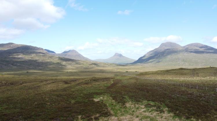 Stac Pollaidh, Highlands Geopark Scotland. by Sam Davis Photographer. Drone photography. Drone operator.