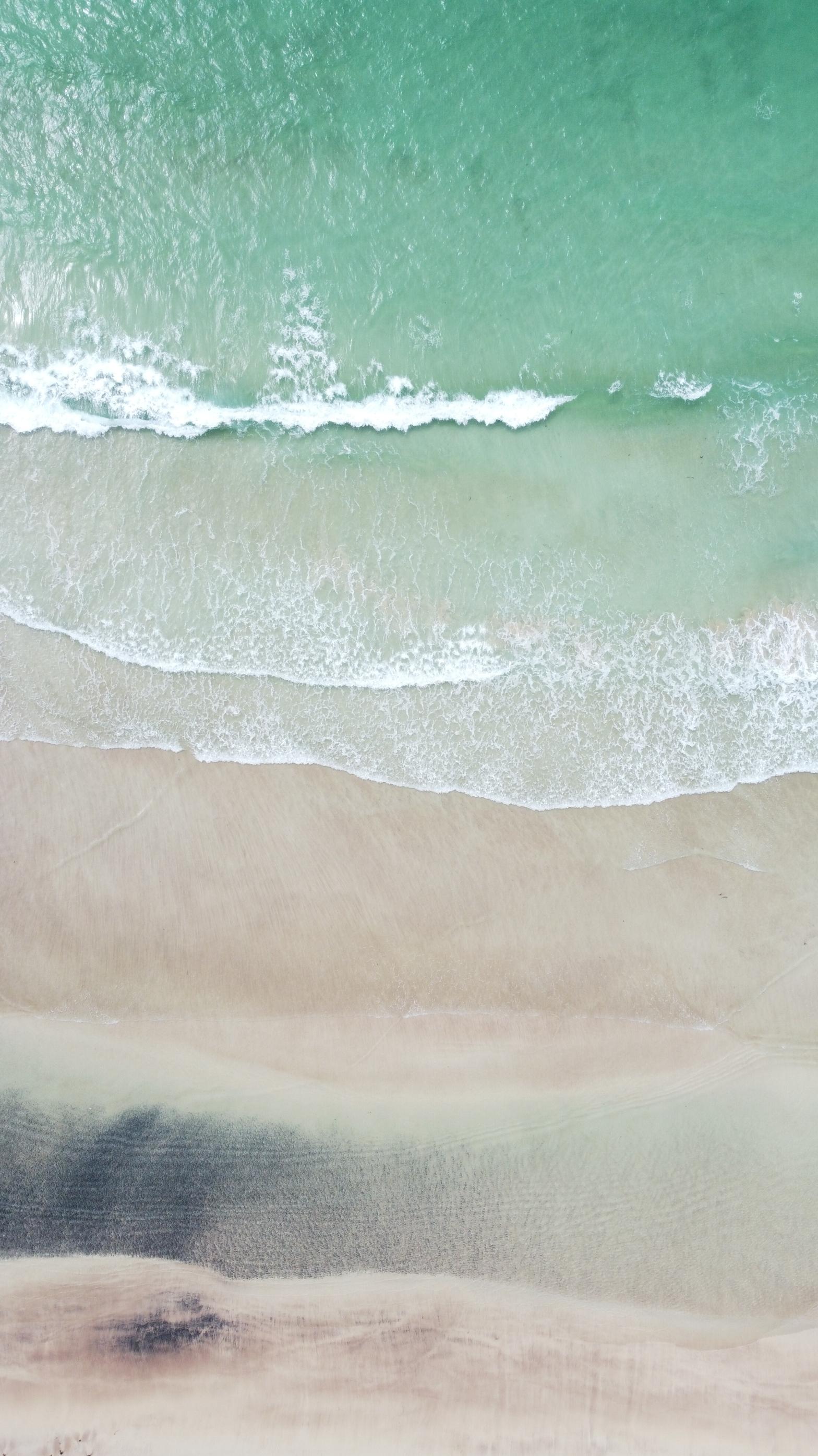 White sand scottish beach. Clear water. Blue Water. Aerial photo of a beach near Sandwood Bay, Scotland. By Sam Davis Photographer. Drone operator. Professional Photographer. www.samsphotogallery.com
