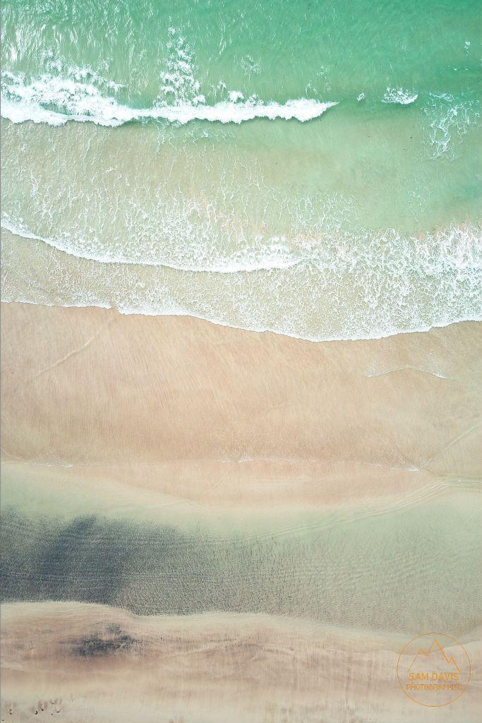 Oldshoremore Beach, Scotland. Aerial drone photo by Sam Davis LandscapePhotographer