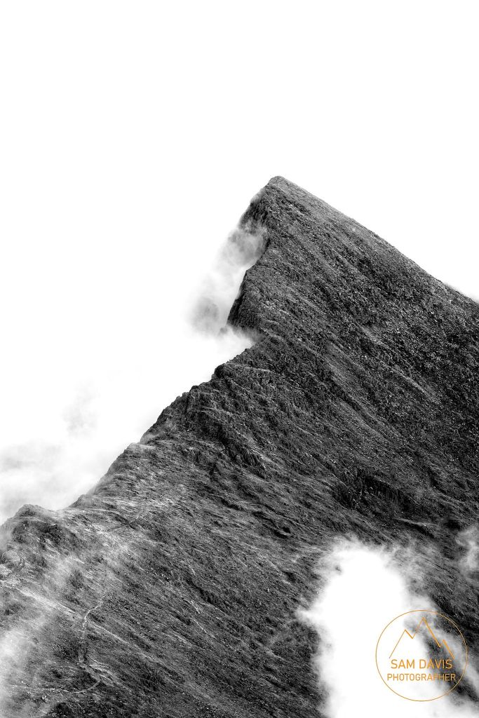 View from Snowdon, Wales by Sam Davis Landscape Photographer misty mountain snowdonia