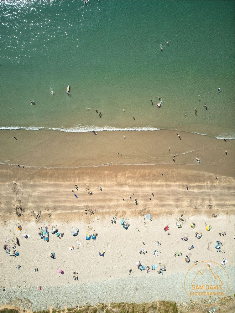 Whitesands beach, Pembrokeshire. Aerial drone photo by Sam Davis Photographer